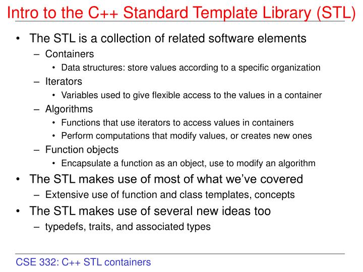 Standard Template Library The C+