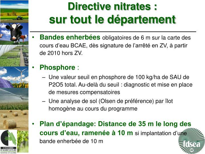 Directive nitrates :