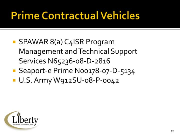 Prime Contractual Vehicles