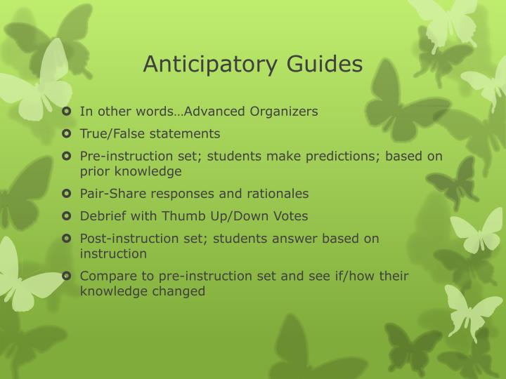 Anticipatory Guides