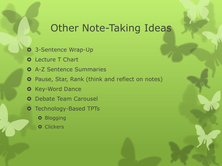 Other Note-Taking Ideas