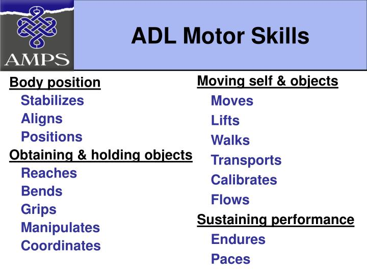 assessment of motor and process skills pdf