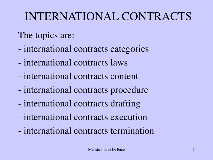 international contracts n.