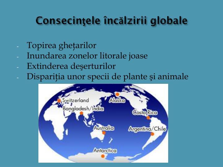 Consecinţele încălzirii globale