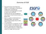 overview of esgf