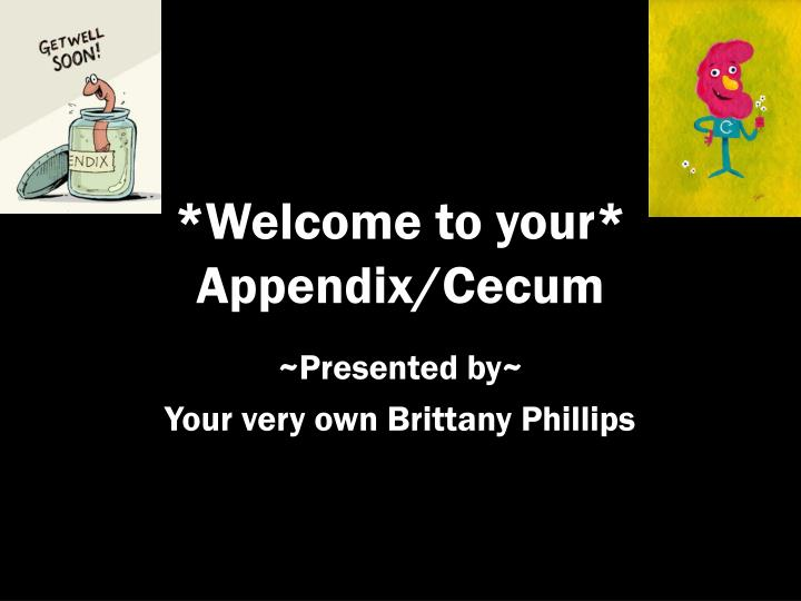 welcome to your appendix cecum n.
