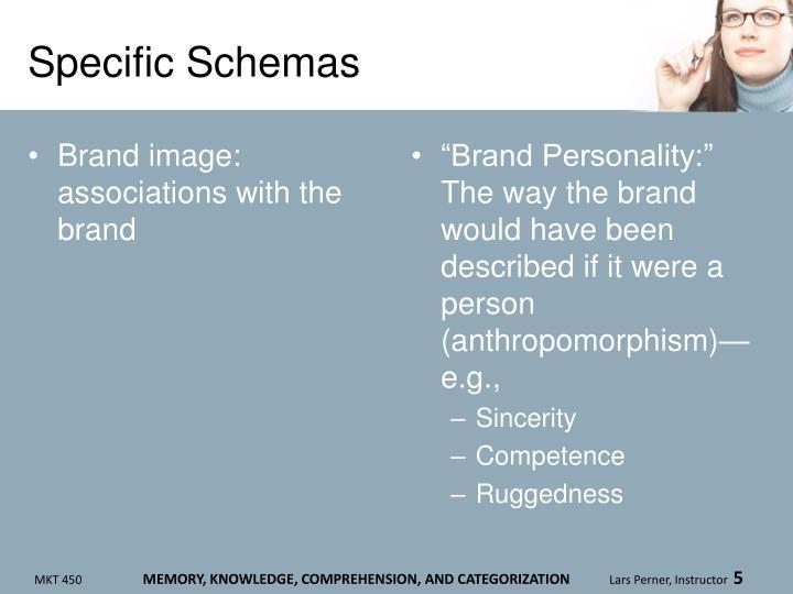 Specific Schemas