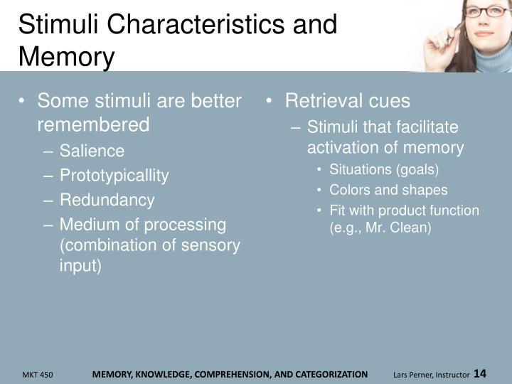 Stimuli Characteristics and Memory
