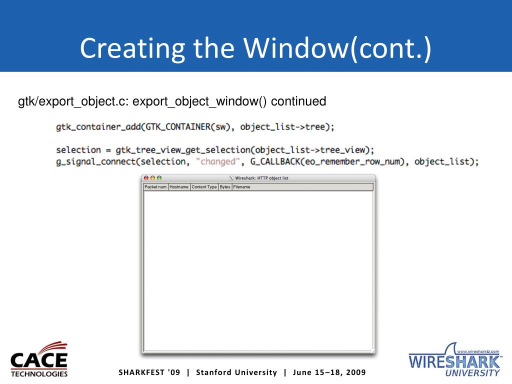 PPT - Adding Additional Functionality to the Wireshark GUI