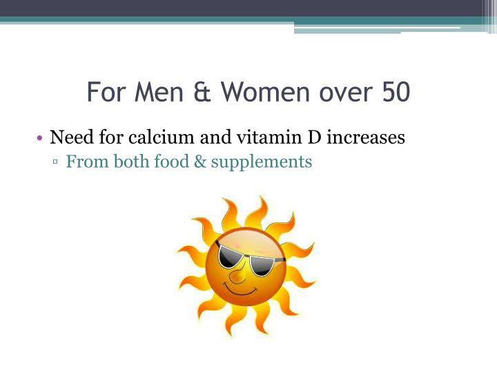 For Men & Women over 50