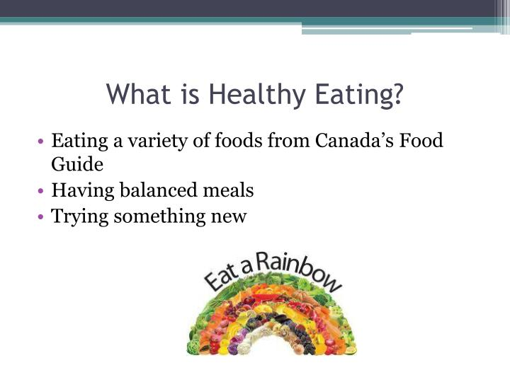 What is healthy eating