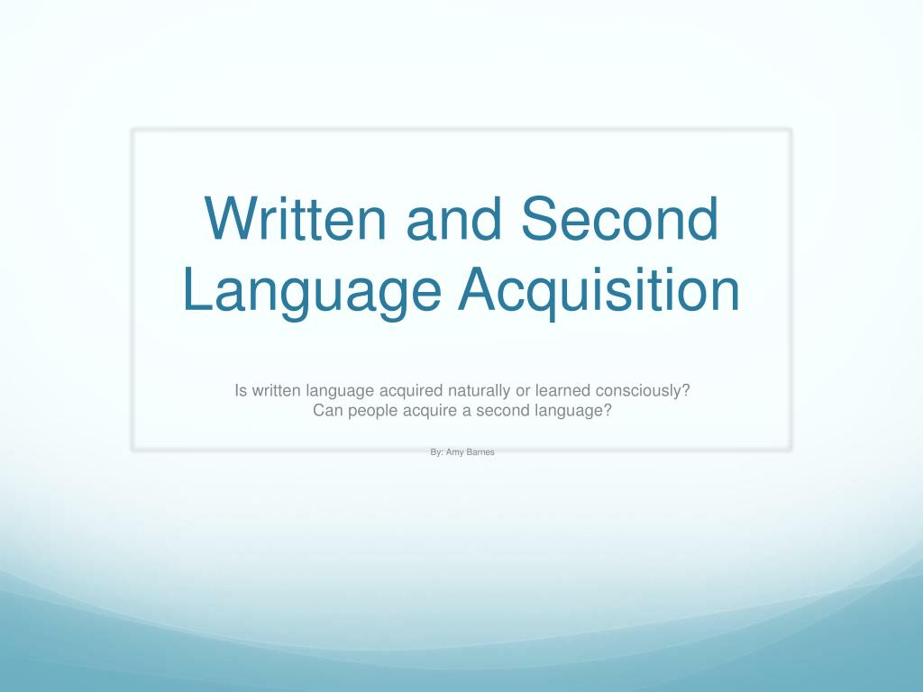 how do people acquire language