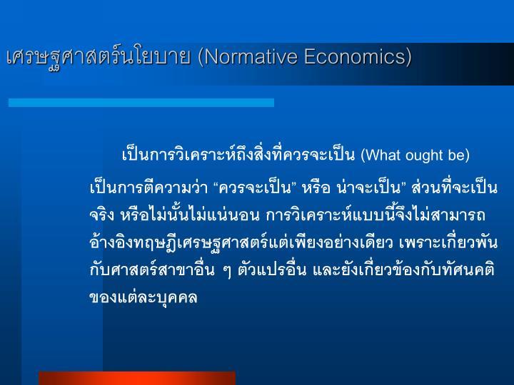 เศรษฐศาสตร์นโยบาย