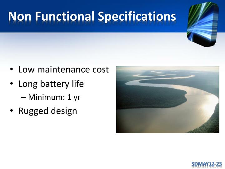 Non Functional Specifications