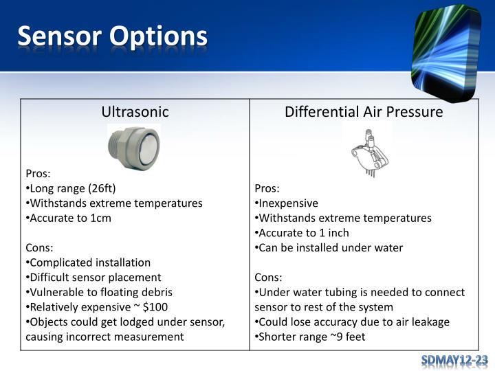 Sensor Options
