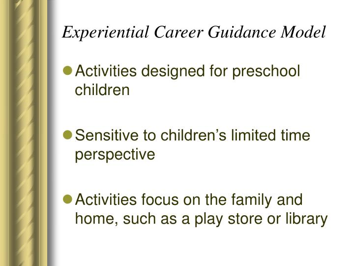Experiential Career Guidance Model