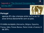 segundo o the duracell european toy survey 2007