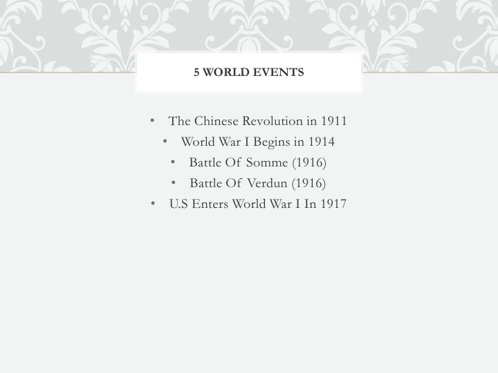 5 world events
