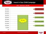 invest in your child campaign