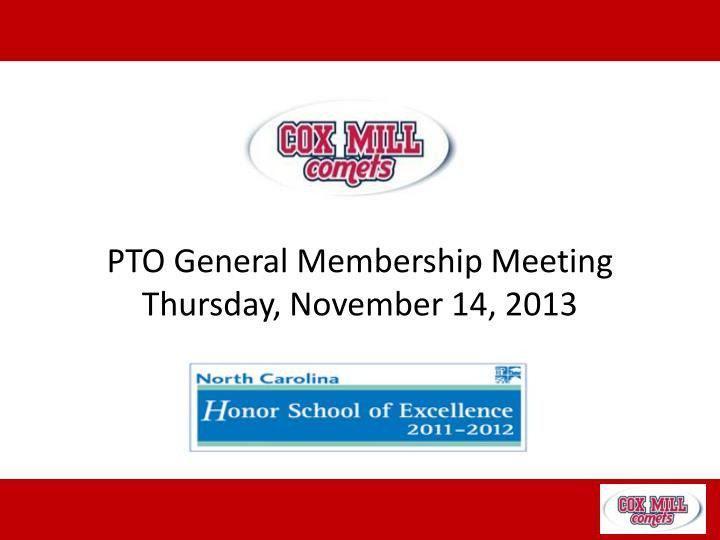 pto general membership meeting thursday november 14 2013