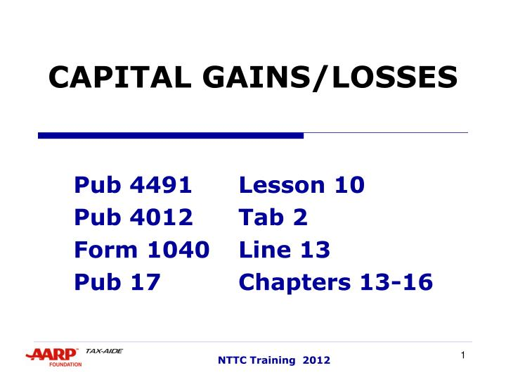 Ppt Capital Gainslosses Powerpoint Presentation Id2975731