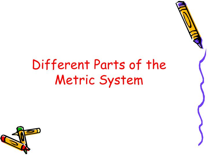 Different parts of the metric system
