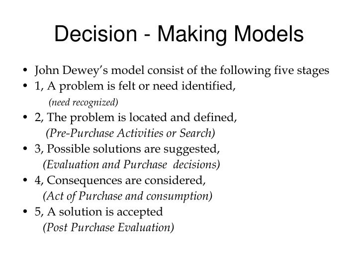 Decision - Making Models