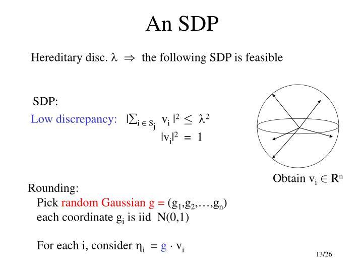 An SDP