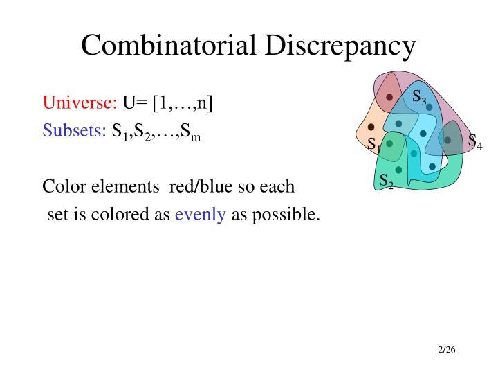 Combinatorial discrepancy