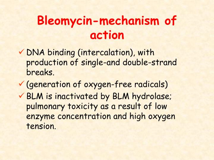 Bleomycin-mechanism of action