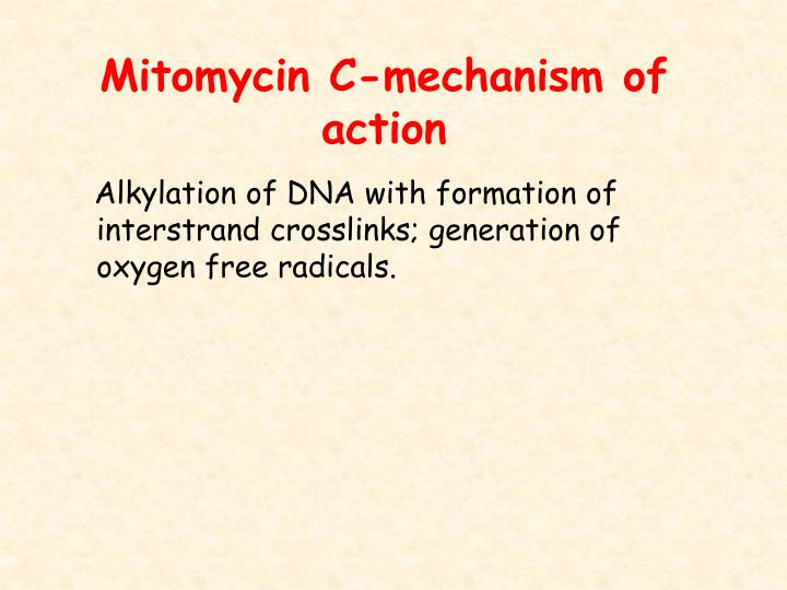 Mitomycin C-mechanism of action