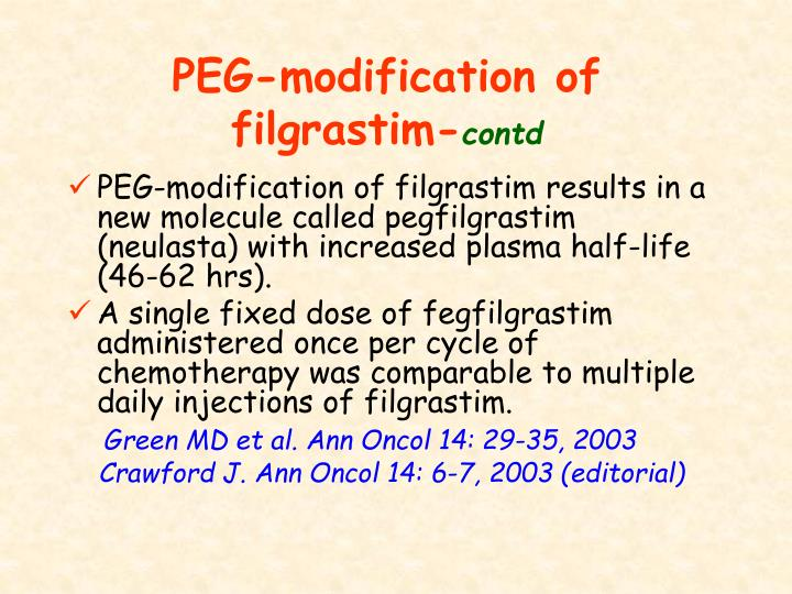 PEG-modification of filgrastim-