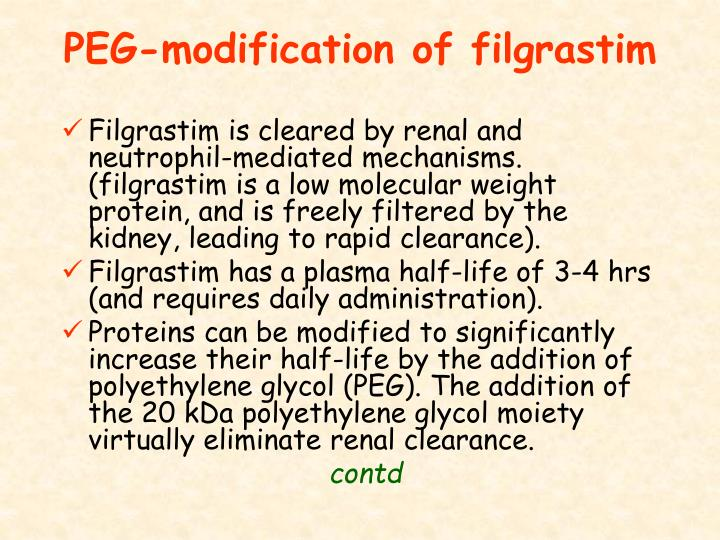 PEG-modification of filgrastim