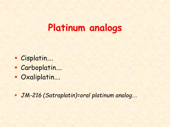 Platinum analogs