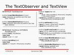 the textobserver and textview