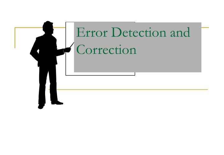 error detection and correction n.