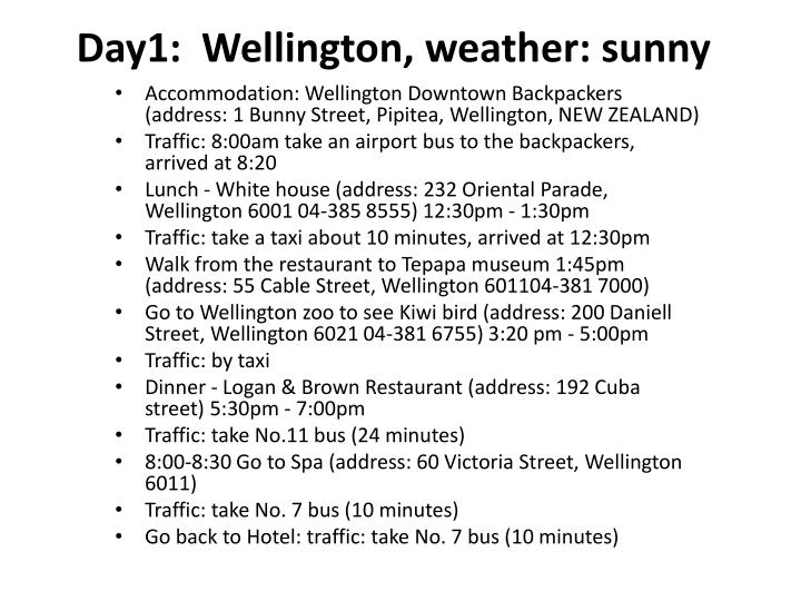 day1 wellington weather sunny n.