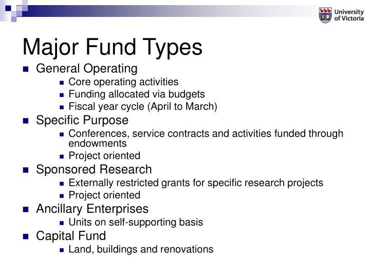 Major fund types