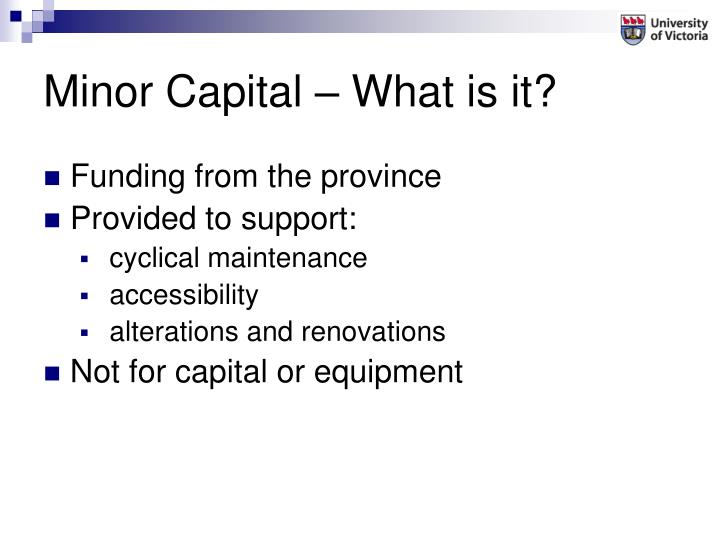 Minor Capital – What is it?