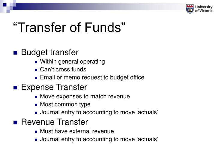 """""""Transfer of Funds"""""""