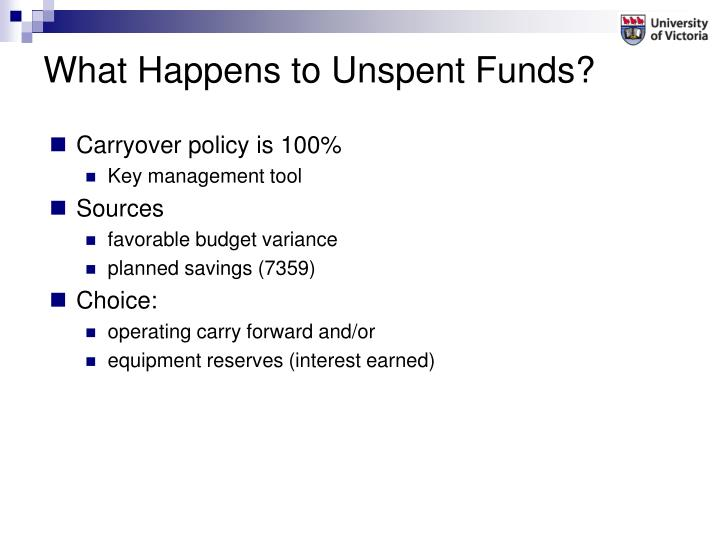 What Happens to Unspent Funds?