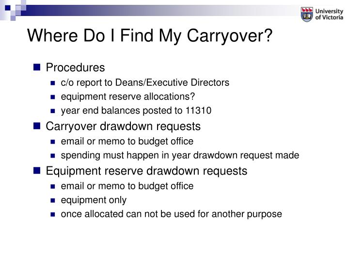 Where Do I Find My Carryover?