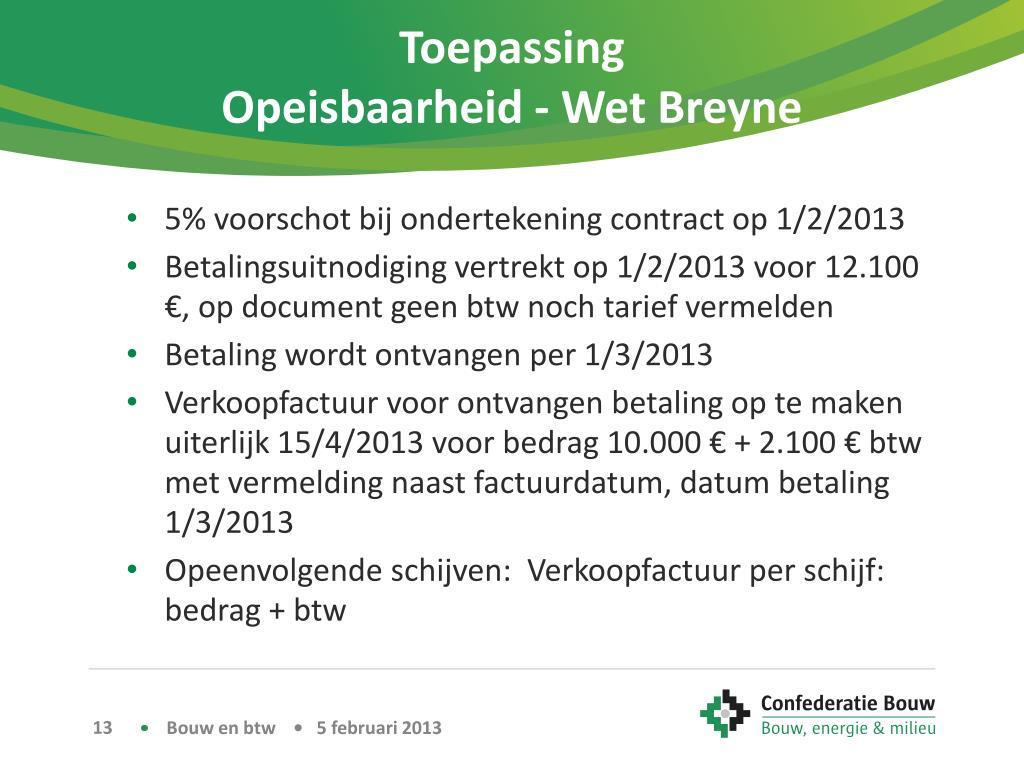 PPT - Btw in de bouw PowerPoint Presentation - ID:2976309