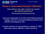 phase 3 automated testing of 1000 sites
