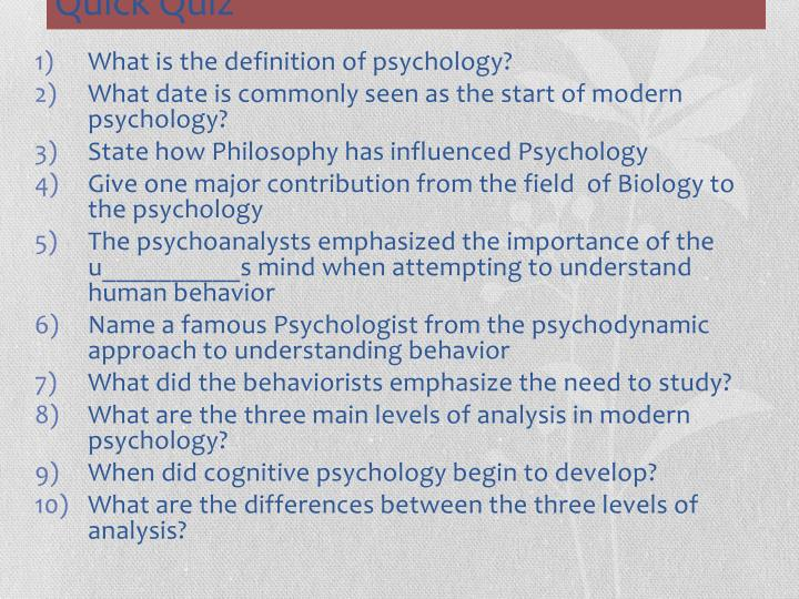 What is the definition of psychology?