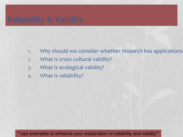 Why should we consider whether research has applications?