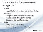 10 information architecture and navigation