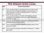 fda aflatoxin action levels