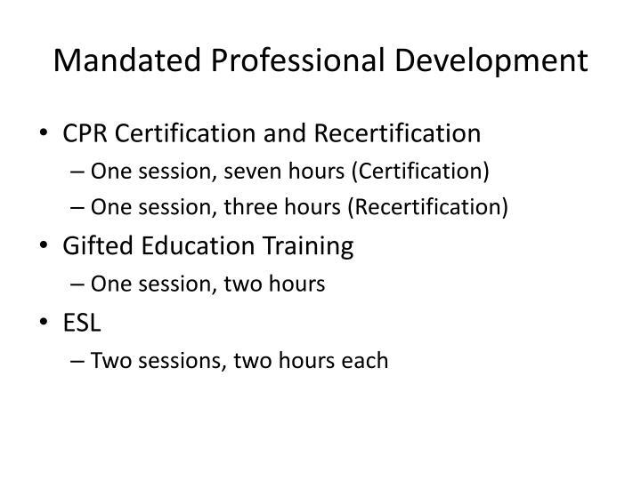 Mandated Professional Development
