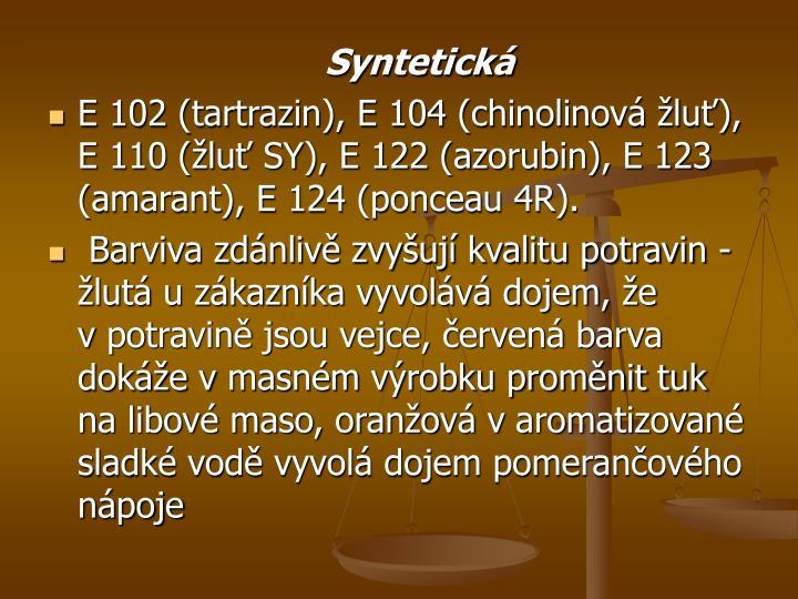 Syntetická
